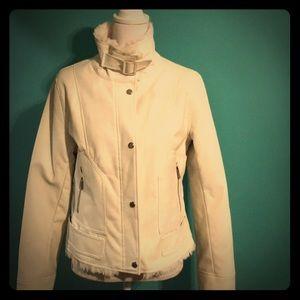 SUPER FUN faux leather/Sherpa jacket!